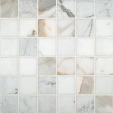 Calacatta Oro 2x2 Polished Marble Mosaic Tile